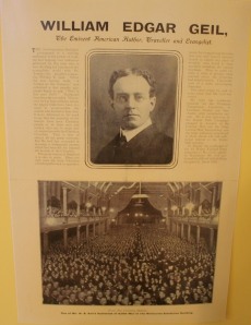 Here is a news clipping of the enormous crowd that turned out for Geil's speach in Australia