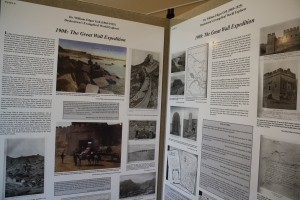 Here is a display of Geil's Great Wall of China's expedition